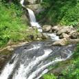 魚止めの滝を遡る